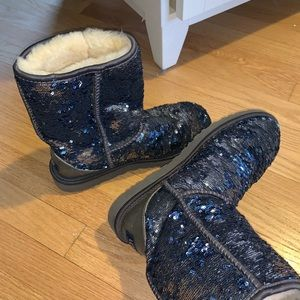 blue sparkly uggs